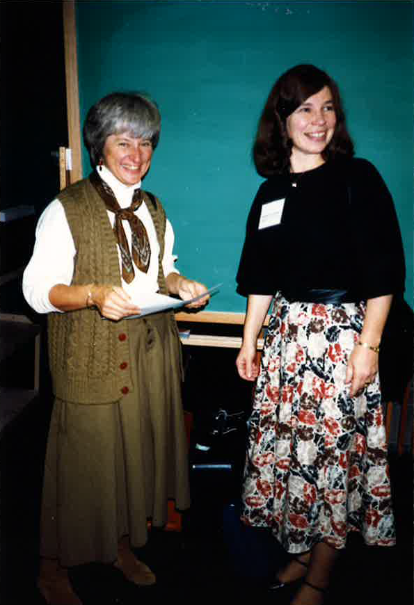 Tricia with Susan Taylor at a conference about 1990
