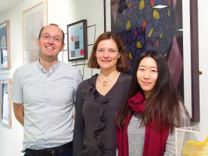Photo  (left to right) Andrew Howden, Esther Sammler and Ying Fan.